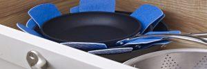 Pannen beschermen: stapelbeschermers om tussen je pannen te leggen